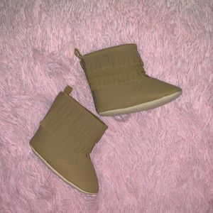 Old Navy- 9 mos brown baby girl boots